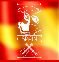 Traditional spanish flamenco spain background vector