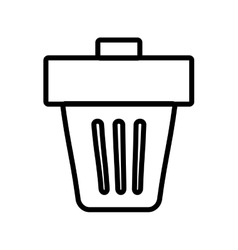Trash icon Recycle and ecology design vector