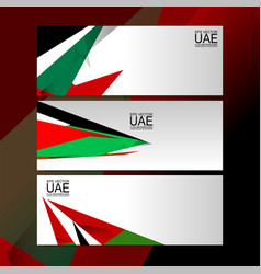 Uae banner design vector