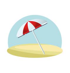umbrella beach accessory isolated icon vector image