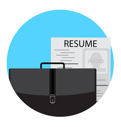 Unemployment icon flat vector