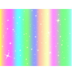 unicorn rainbow background holographic sky in vector 23326337
