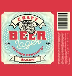 Vintage frame design for beer label vector