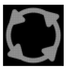 White halftone rotate icon vector