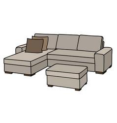 big cream couch vector image