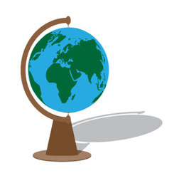 Globe with shadow vector image
