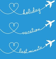holiday vacation flying set vector image vector image