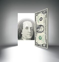 Money door one hundred vector