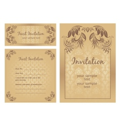 ornate template vector image