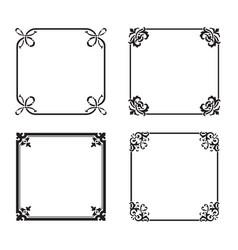 decorative square ornate design elements vector image vector image