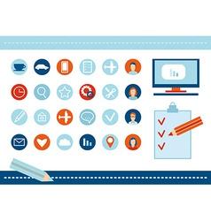 Flat design modern poster of the SEO website vector image