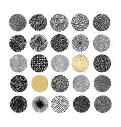 hand drawn circle textures vector image