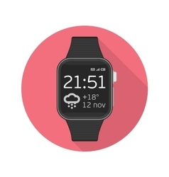 icon smart watches vector image vector image