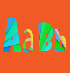inner shadow font AB Alphabet design full color vector image vector image