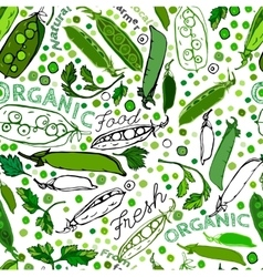 Peas Seamless Pattern 01 A vector image