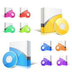 software boxes vector image