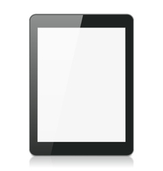 Black Tablet Computer or Reader vector image