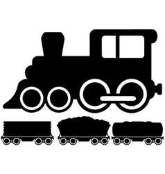 isolated locomotive train and car vector image