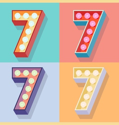 Number 7 vector image