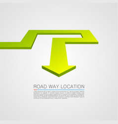 direction of the trajectory path vector image vector image