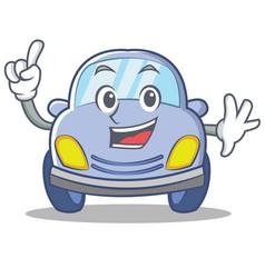 finger cute car character cartoon vector image vector image