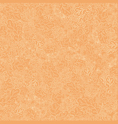 seamless pattern flower and leaf the cream colored vector image vector image