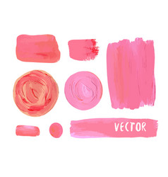 set of cosmetic stains texture of acrylic paint vector image vector image