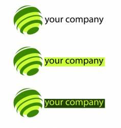 your company green logo vector image vector image