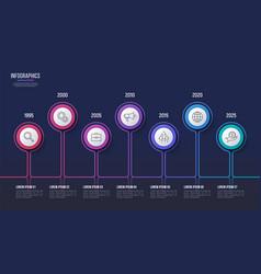 7 steps infographic design timeline chart vector image