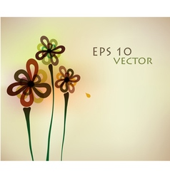 93abstract flower background vector