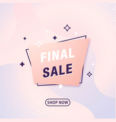 abstract geometric banner final sale modern vector image