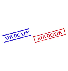 Advocate grunge rubber stamp watermarks vector