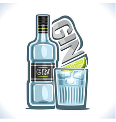Alcohol drink gin vector