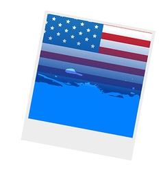 american flag design vector image