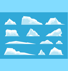 arctic iceberg north pole travelling ice rock vector image