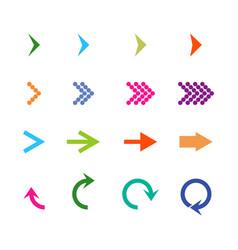 arrows isometric set icon arrows colorful arrow vector image
