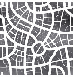 black and white map city seamless pattern vector image