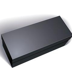 blank black box isolated on white background vector image