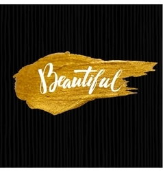 Brush Lettering Calligraphy on Gold Background vector