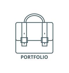 business caseportfolio line icon vector image