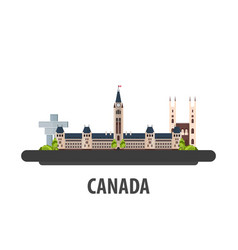 Canada travel location vacation or trip and vector