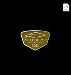 car logo in simple line graphic design template vector image