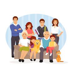 Cartoon big family vector