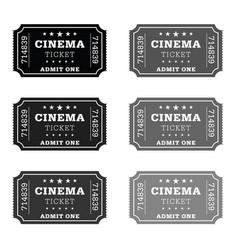 Cinema ticket set vector