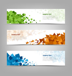collection abstract banners with colorful design vector image