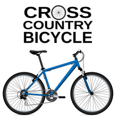 cross-country bike detailed drawing white vector image