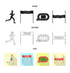 design of sport and winner icon collection vector image