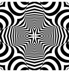 Design symmetric monochrome background vector