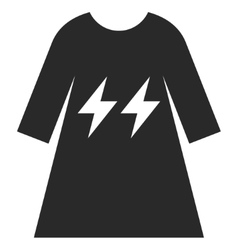 Electric Energy Girl Dress Eps Icon vector