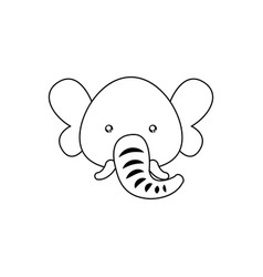 Elephant drawing face vector